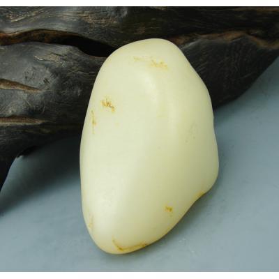 重172克新疆和田玉黄皮白玉籽玉