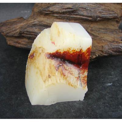 重122克 新疆和田玉红皮白玉 籽料