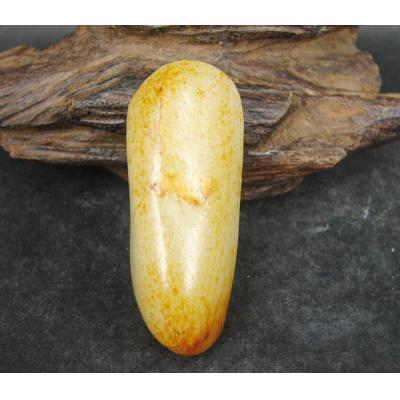 重56克新疆和田玉黄皮白玉籽玉 原料
