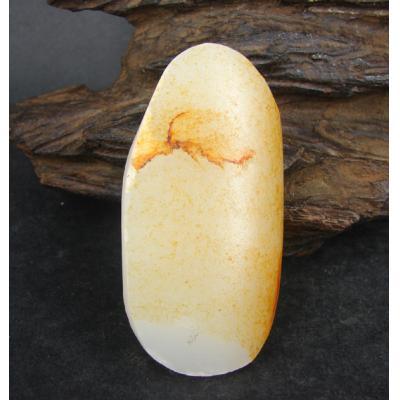 重66克 新疆和田玉洒金皮一级白玉 籽料