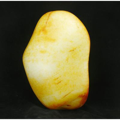 重5公斤 新疆和田玉洒金皮羊脂白玉 籽料