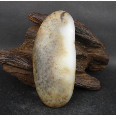重164克 新疆和田玉鹿皮白玉籽玉 籽料