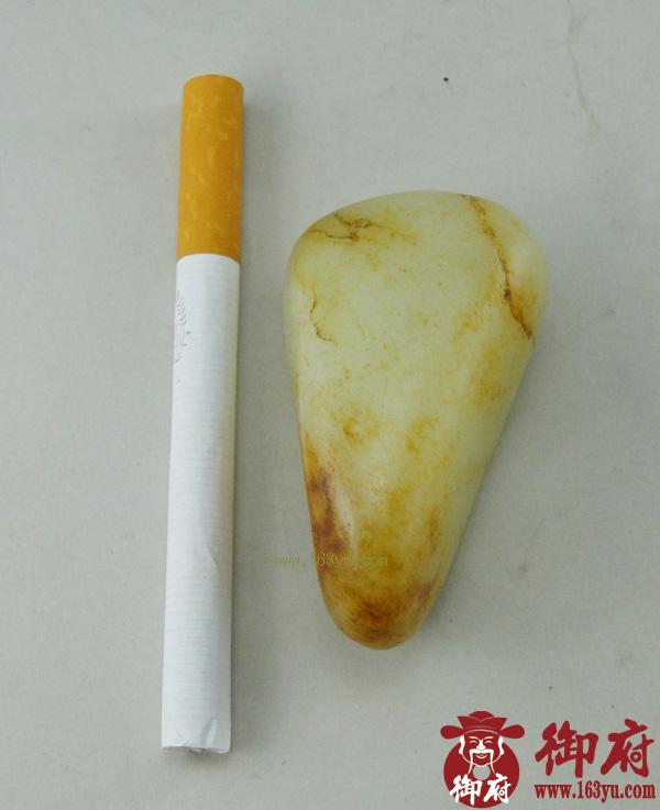 重74克 新疆和田玉黄皮白玉籽料(实价)