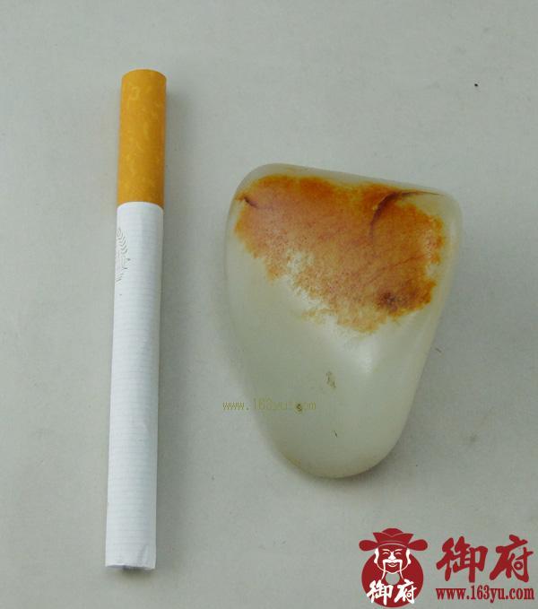 重87.2克 新疆和田玉枣红皮白玉籽料(实价)