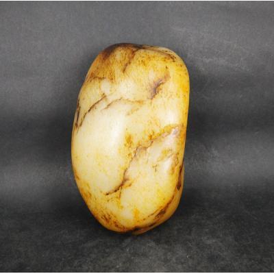 重1195克 新疆和田玉洒金皮白玉籽料 原石(实价)
