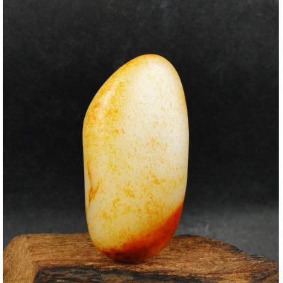 重62.3克 新疆和田玉枣红皮白玉籽料 原石