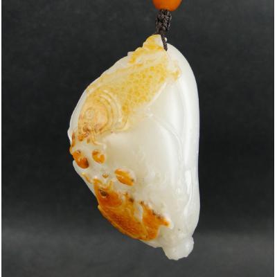 重89.7克 新疆和田玉枣红皮白玉籽玉 连年有余