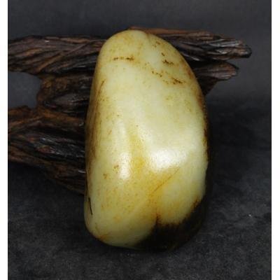 重426克 新疆和田玉黑皮白玉籽玉 原石(实价)