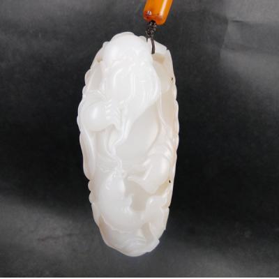 重67.5克 新疆和田玉洒金皮一级白玉籽玉 渔翁得利 实价
