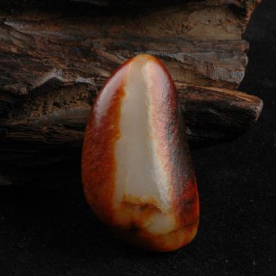 重25.3克 新疆和田玉枣红皮白玉籽玉 原石