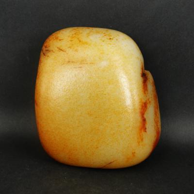 重1272克 新疆和田玉枣红皮白玉籽玉 原石