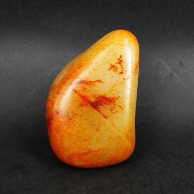 重584克 新疆和田玉枣红皮白玉籽玉 原石