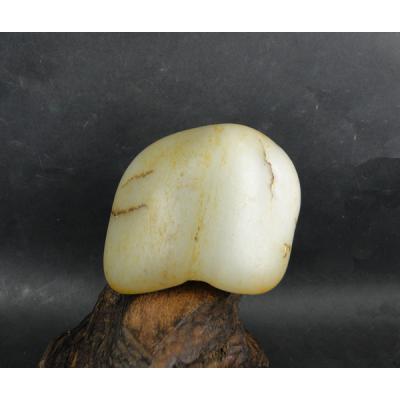 重381克 新疆和田玉黑皮白玉籽玉 原石