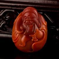 南红玛瑙挂件 财神 33.5克 实价