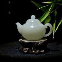 新疆和田玉白玉小摆件 茶壶 155.7克