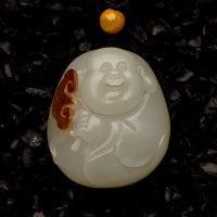新疆和田玉枣红皮白玉籽玉挂件 弥勒 20.2克