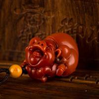 南红玛瑙挂件 喜猪 12.8克