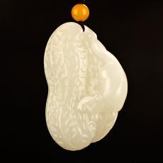 新疆和田玉白玉籽玉挂件 生生有子 26.9克