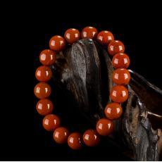 南红玛瑙手串(18颗) 30.4克