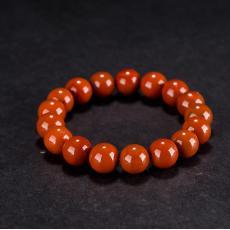 南红玛瑙手链(17颗) 38.3克