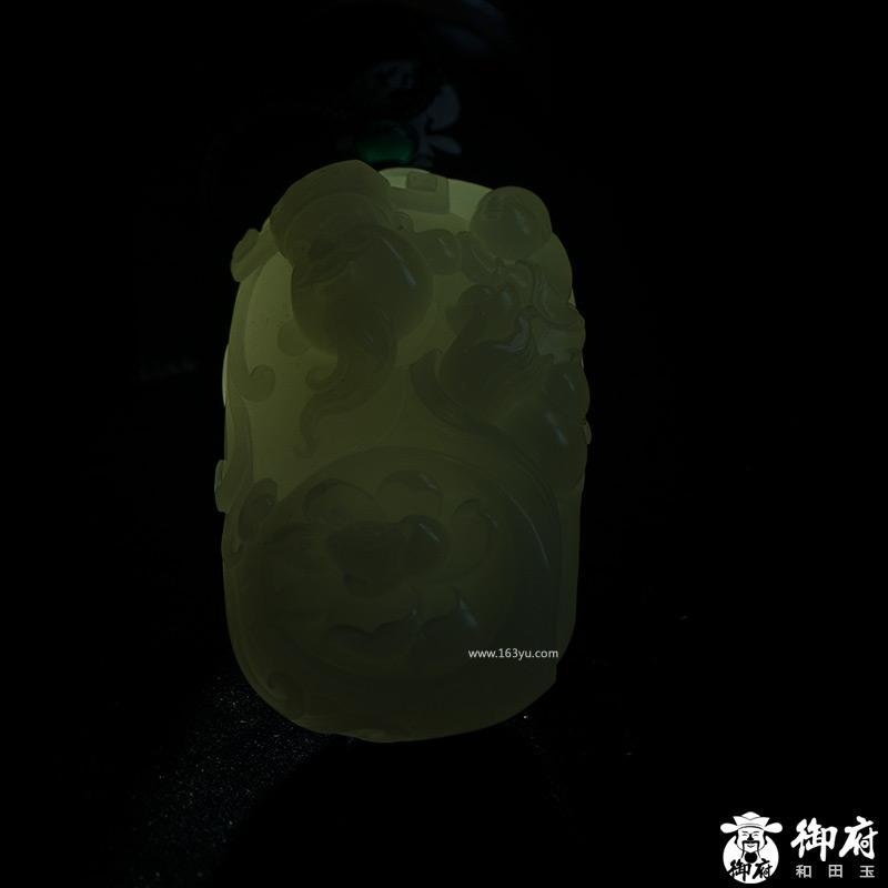 新疆和田玉原毛孔皮白玉籽玉把件 和气生财 133.2克