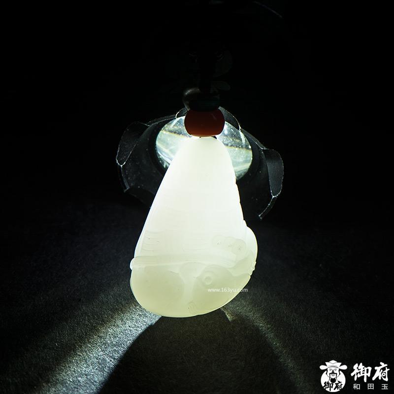 新疆和田玉白玉籽玉挂件 灵猴拜寿 21.4克