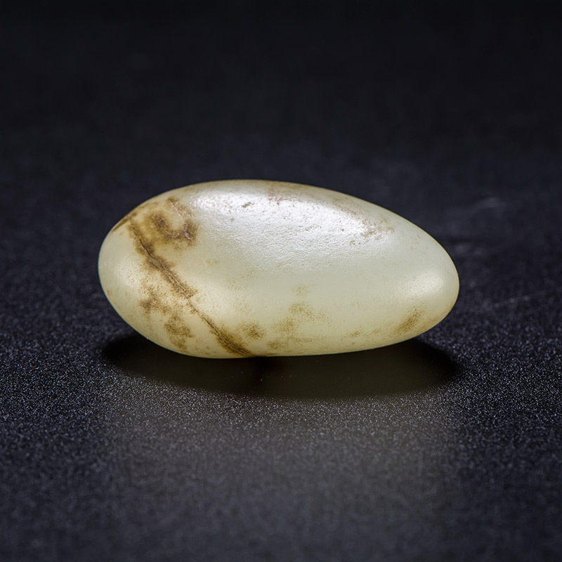 新疆和田玉褐皮白玉籽玉 原石 18.4克