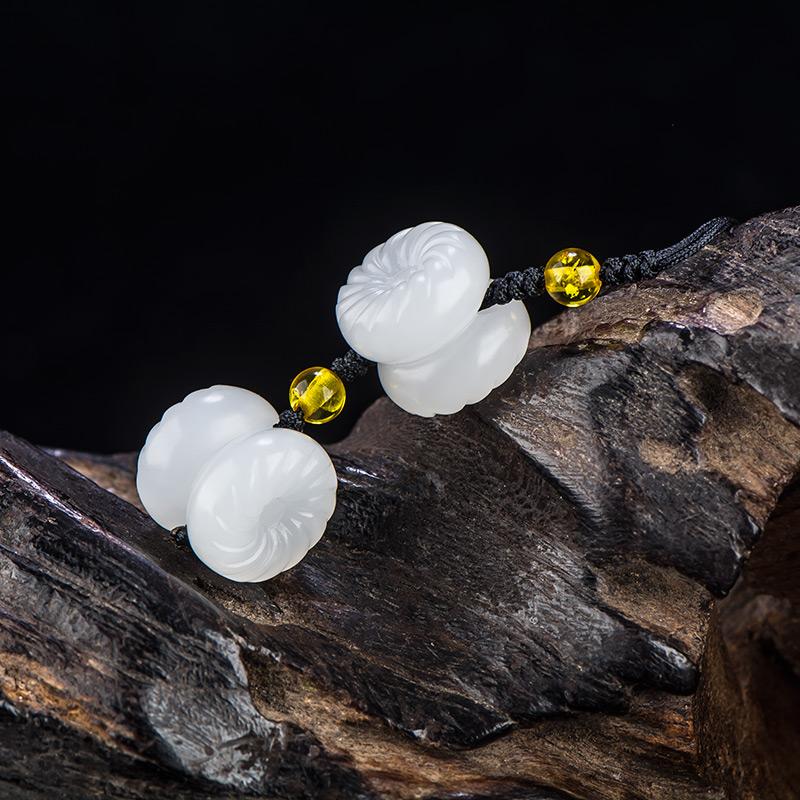 新疆和田玉一级白白玉籽玉挂件 平安 3.7克
