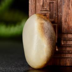 新疆和田玉褐皮白玉籽玉挂件 原石 7.1克
