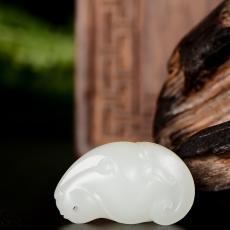 新疆和田玉白玉籽玉挂件 样样如意 8.2克