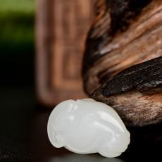 新疆和田玉一级白白玉籽玉挂件 样样如意 3.1克