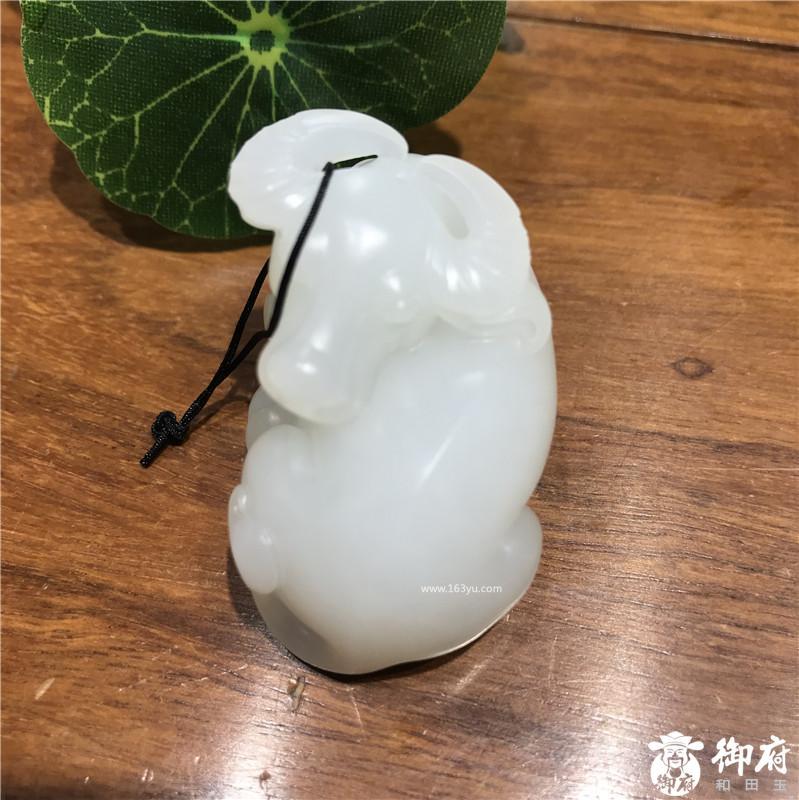 新疆和田玉原毛孔皮白玉籽玉挂件 羊脂白扭转乾坤  44.6克