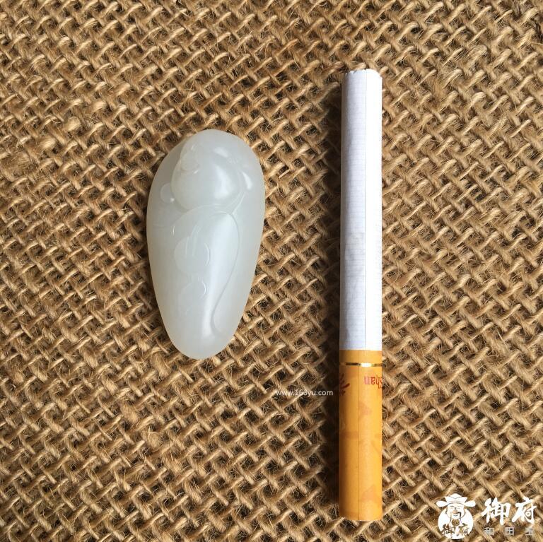 新疆和田玉一级白玉籽玉挂件 招财弥勒 18.4克