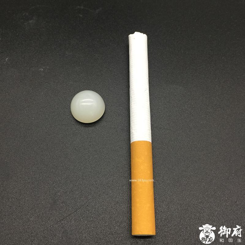 新疆和田玉白玉籽玉 圆形蛋面 2.6g