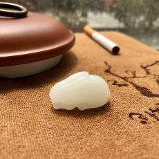 新疆和田玉羊脂白玉籽玉挂件 玉兔 9.3克