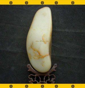 重740克新疆和田玉鹿皮白玉籽玉