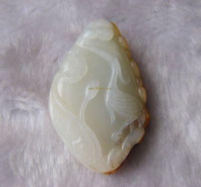 新疆和田玉-和田秋梨皮一级白玉籽料 一路连科