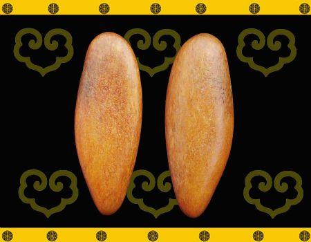 重20克 新疆和田玉黄玉籽料挂件