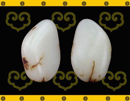 重47克新疆和田玉黑皮白玉籽料