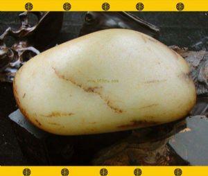 重1113克新疆和田玉枣黑皮白玉籽料