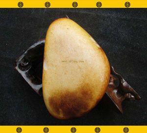 重408克新疆和田玉黄褐皮白玉籽料