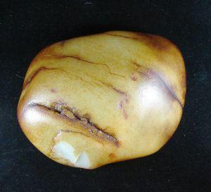 重4500克新疆和田玉秋梨皮白玉籽料