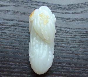 重91克新疆和田玉洒金皮白玉籽玉 瓜瓞绵绵
